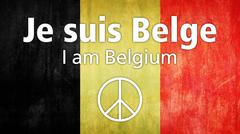 Je Suis Belge (french: I am Belgium) with the Belgian flag - stock illustration