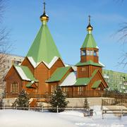 Orthodox Church in the Northern town of Russia - stock photo