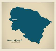 Modern Map - Uttarakhand IN Stock Illustration