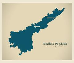 Modern Map - Andhra Pradesh IN - stock illustration