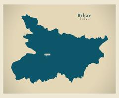 Modern Map - Bihar IN - stock illustration
