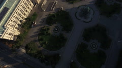 Aerial view of the first district in Vienna Stock Footage