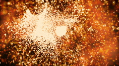 An explosion sparks on a black background video Stock Footage