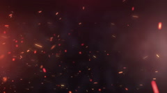 Abstract red  particles video Stock Footage