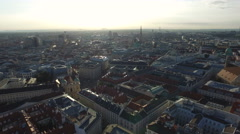 Great aerial view of Vienna Stock Footage