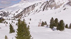 Winter Panorama  of a ski resort in Italian Alps Stock Footage