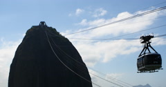 The famous Sugarloaf mountain in Rio de Janeiro, Brazil. Travel, Bondinho - stock footage