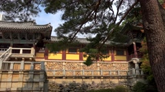 Bulguksa Temple. Gyeongju, South Korea. Stock Footage