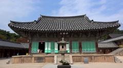 Geungnakjeon (Paradise) hall at Bulguksa Temple. Gyeongju, South Korea. Stock Footage