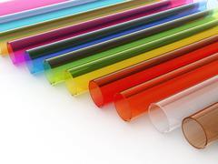 Multi colored acrylic tubes Stock Illustration