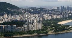 Flamengo, Aterro, City of Rio de Janeiro, Brazil. Guanabara Bay. Brazilian Stock Footage