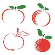 Set of Apple Icons Stock Illustration