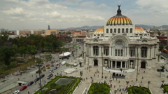Palace of Fine Arts (Palacio de Bellas Artes) in Mexico City Stock Footage