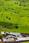 Landscape in spring time and rural areas of Artvin city, Turkey - stock photo