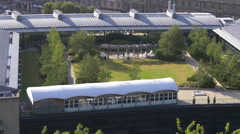High angle shot of the Omni Centre in Edinburgh Stock Footage