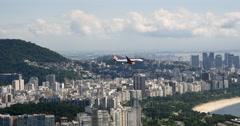 City of Rio de Janeiro, Brazil. Guanabara Bay. Brazilian Olympic games. - stock footage