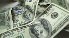 Dollar bills close-up Stock Footage