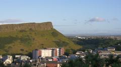 Great panoramic view of Edinburgh Stock Footage