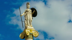 Greek Goddess Athena statue timelapse Stock Footage