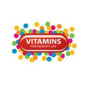vector logo vitamins - stock illustration