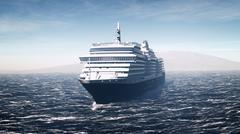 Cruise ship - stock illustration