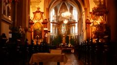 Church interior of Bratislava Stock Footage