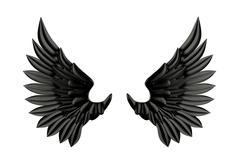 Black wing isolated Stock Illustration