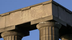 Close up of the Scotland's National Monument on Calton Hill in Edinburgh Stock Footage