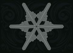 Ornament Snowflake - stock illustration
