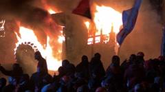 Kiev, Ukraine - 19 january 2014: Maidan, revolution of dignity  - stock footage