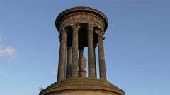 Low angle view of the Dugald Stewart Monument, Edinburgh Stock Footage