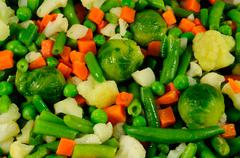useful and tasty vegetable mix. closeup - stock photo