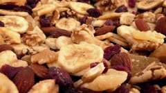 Dried Fruit And Nut Mix Rotating - stock footage