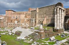 Imperial forum of Emperor Augustus. Rome, Italy - stock photo