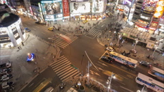 Night time lapse of shopping entertainment district in Taipei city, Taiwan - stock footage