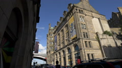 The City Art Centre and the Scotsman Hotel in Edinburgh Stock Footage