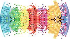 Mosaic color illustration vector design - stock illustration