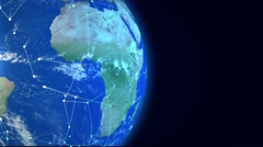 Global network. Communication concept with space for text. Presentation - stock footage