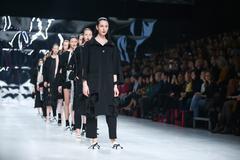 Bipa Fashion Show: Gala Vrbanic, Zagreb, Croatia. Stock Photos