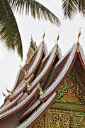 Roof of Wat Ho Pha Bang, Luang Prabang, Laos Stock Photos