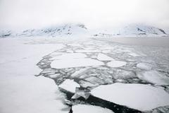 Ice floe, Svalbard Archipelago, Norway Stock Photos