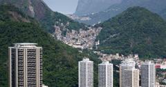 Santa Marta Comunity, Favela. Rio de Janeiro, Brazil. Sao Clemente, Botafogo Stock Footage