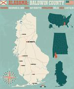 Baldwin County in Alabama USA Stock Illustration