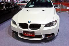 White BMW show at the second Bangkok international auto salon 2013 - stock photo