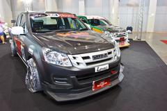 Stock Photo of ISUZU D-MAX show at the second Bangkok international auto salon 2013