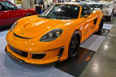 PORSCHE MIRAGE GT  show at the second Bangkok international auto salon 2013 - stock photo