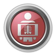 Icon, Button, Pictogram X-Ray - stock illustration