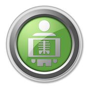 Icon, Button, Pictogram X-Ray - stock illustration