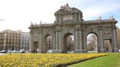 Puerta de Alcala in Madrid, Spain Stock Footage