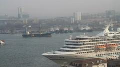 """Bay Area """"Golden Horn"""" in Vladivostok. Stock Footage"""